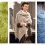 Палантин спицами из мохера схемы и описание — поэтапное вязание шарфа-палантина из мохера