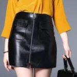 С чем носить юбку из экокожи грамотные сочетания