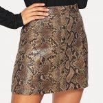 С чем носить юбку со змеиным принтом оттенки змеиного принта в одежде