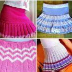 Юбка плиссе спицами мини-юбка плиссе ложной английской резинкой для девочки