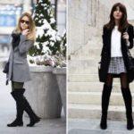 С чем носить ботфорты без каблука осенью и зимой, как носить с платьем, джинсами и др