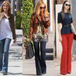 С чем носить брюки клеш от колена и от бедра модные образы