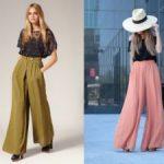 Что такое брюки палаццо особенности кроя, материалы, советы по выбору
