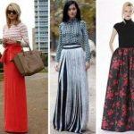 Фасоны длинных юбок описание и фото моделей