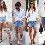 С чем носить джинсовые шорты