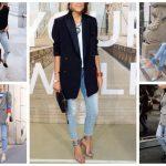Что надеть с голубыми джинсами сочетание цветов зимой и летом с голубыми джинсами
