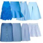 С чем одеть голубую юбку варианты верха, обуви, модные образы