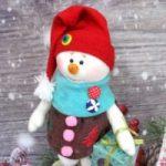 Выкройка снеговика из флиса как сшить снеговика своими руками