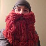 Как сделать бороду из ниток своими руками, для Карабаса Барабаса