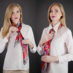 Как завязать платок галстуком на шее пошагово виды узлов, порядок действий