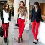 С чем носить красные брюки как правильно подобрать образ и фасон