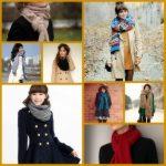 Какой шарф подойдет к разным цветам пальто зеленому, синему, красному, черному
