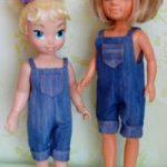 Как сшить комбинезон для куклы джинсовый комбинезон, инструкция