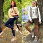 С чем носить коричневые кроссовки Примеры образов для женщин и мужчин