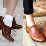 С чем носить женские коричневые туфли как подобрать брюки, юбки, костюмы