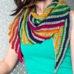 Машинное вязание схема косынки — бактус (шарф-косынка) на вязальной машине