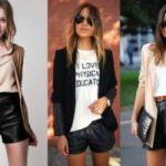 С чем носить кожаные шорты в разных стилях, весной, зимой, летом