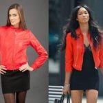 С чем носить красную кожаную куртку
