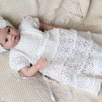 Крестильное платье крючком для девочки со схемами крестильное платье для девочки филейной сеткой