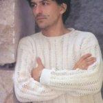 Мужской свитер крючком модели мужского свитера пошагово