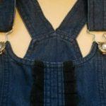 Как сделать лямки на комбинезоне регулируемыми по длине, застежки на джинсовом комбинезоне