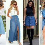 Джинсовые юбки 2019 года модные тенденции, фото