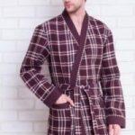 Выкройка мужского халата легкого или банного