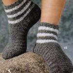 Мужские носки крючком как связать мужские носки крючком