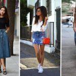 Образы с джинсовой юбкой как носить, с чем сочетать