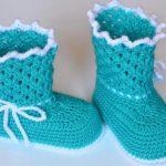 Пинетки-сапожки крючком пинетки-сапожки крокодиловым узором для новорождённого