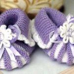 Пинетки зефирки спицами как связать пинетки-зефирки спицами для новорожденных