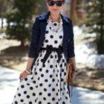 С чем носить платье в горошек фото, варианты и правила подбора сочетаний
