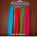 Как хранить шарфы и платки аккуратно и удобно