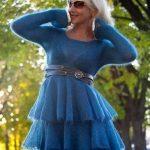 Платье из мохера спицами короткое платье из мохера