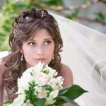 Cвадебные прически с челкой и фатой причёски на свадьбу с чёлкой и фатой