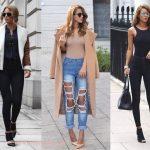 С чем носить джинсы с высокой талией, образы и фото