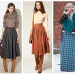 С чем носить длинную шерстяную юбку зимой Стильные юбки для холодов