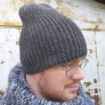 Мужская шапка бини крючком схемы, описание работы