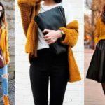 С чем носить горчичный свитер Варианты сочетаний с другой одеждой