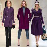 Фиолетовое пальто с чем его носить, каких оттенков бывает и как это всё сочетать