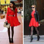 С чем носить красное платье правильные сочетания