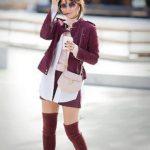 Сапоги цвета марсала с чем носить, фото стильных образов