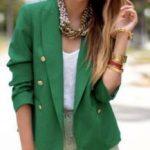 С чем носить зеленый пиджак подбираем правильные сочетания под зеленый женский пиджак