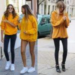 С чем носить женский желтый свитер Сочетание разных моделей с другими деталями одежды