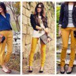 С чем носить горчичные брюки женщинам и мужчинам Выбор оттенка, модели брюк и обуви