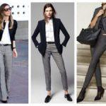 С чем носить серые брюки женские, как сочетать с обувью и аксессуарами