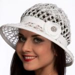 Шляпа крючком шляпы с полями для женщины крючком
