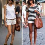 Белые шорты с чем носить