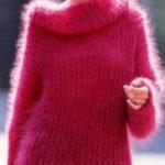 Свитер из мохера спицами (схемы и описание) свитер для женщины из мохера
