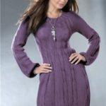 Теплое платье спицами (вязаное) — теплое зимнее платье для женщин спицами